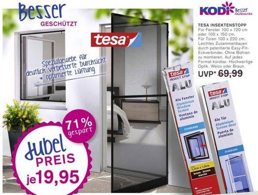 [KODI]Tesa® Insekten-Stop ALU Tür Standard  max.1m x 2,20m 19,95€