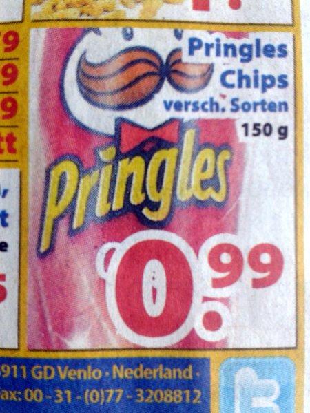 [lokal] Pringles für 99 Cent (Die 2 Brüder von Venlo)