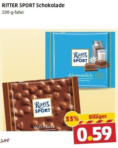 Ritter Sport bei Penny - 0.59€