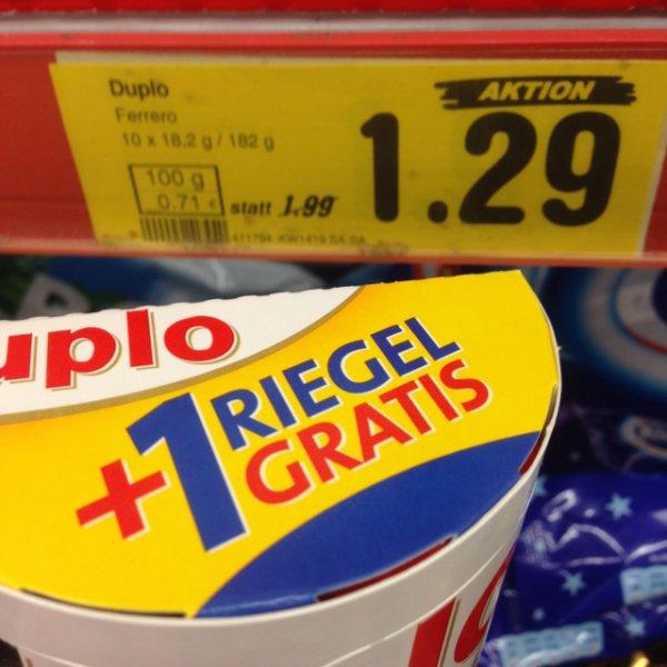 [OFFLINE] Ferrero Duplo 11x für 1,16€ - NUR HEUTE BEI NETTO (ohne Hund)