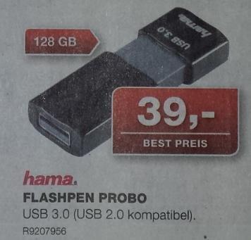 [offline] STAPLES: hama FLASHPEN PROBO 128GB USB3.0 Stick ab 03.05.14