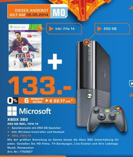 [Lokal Aachen] Xbox 360 250 GB + FIFA 14 133€ am 05.05.2014