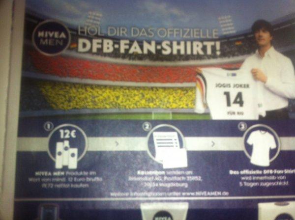 [Wieder da] DFB-FAN-Shirt bei Kauf von Nivea Men Produkten für 12€
