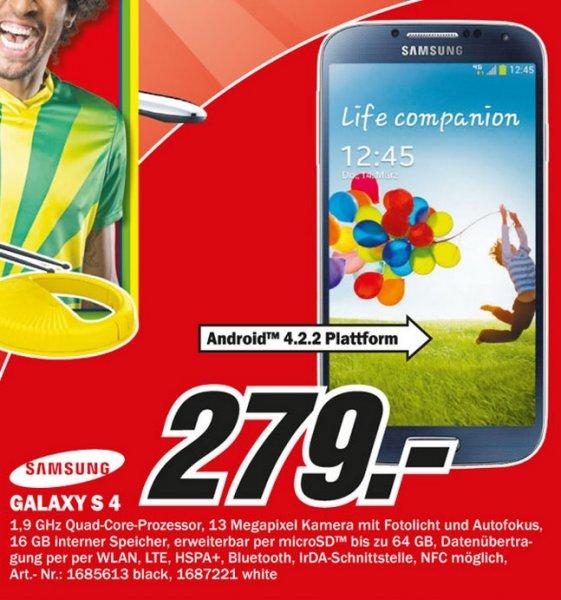 Samsung Galaxy S4 für 279€ Lokal [Mediamarkt Paderborn]