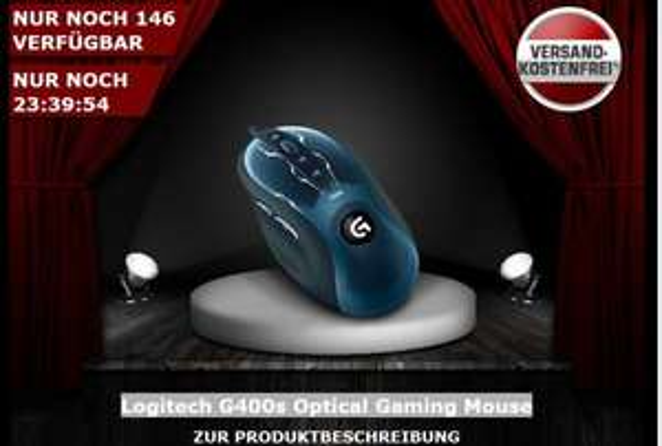 Logitech G400s Optical Gaming Mouse @One.de 34,99