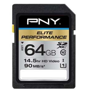 PNY 64GB SDXC Elite Performance UHS-1 (90MB/sec) für 31,75€ @Amazon.com