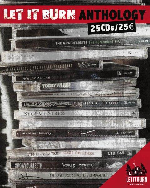 25 Hardcore / Metalcore / Punk / Mosh CDs für 25,00€ (+4,50€ Versand) bei Let it Burn Records (MARATHONMANN, FINAL PRAYER, AYS, LIGHT YOUR ANCHOR, etc.)