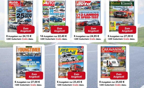[DPV online] Autozeitschriften im MiniAbo z.B. Auto Straßenverkehr 14 Ausgaben u.a.