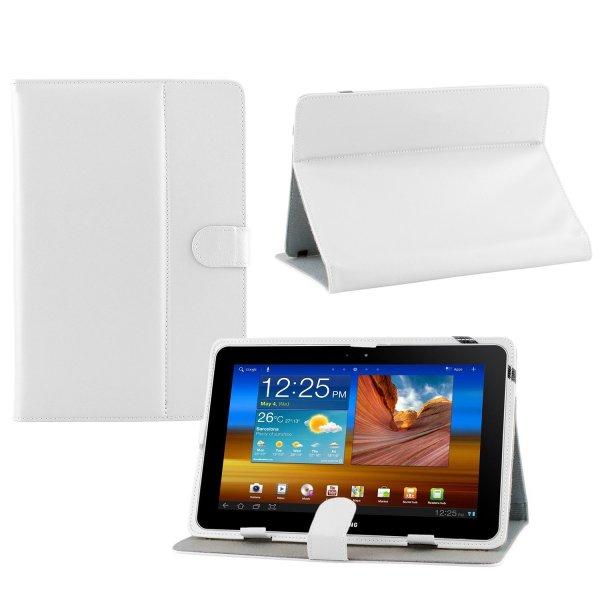 Weiße PU Leder Tasche/Hülle für Samsung Tab3 10.1Zoll und 7 Zoll mit Stylus PEN  @ Amazon