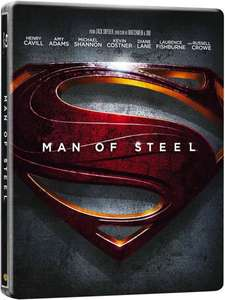 Man of Steel 3D Steelbook (inkl.2D Version + UV Copy) für 14,57€ @Zavvi