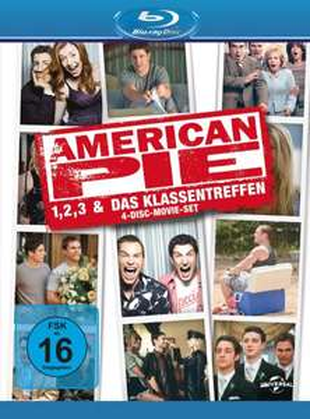 American Pie 1, 2, 3 & Das Klassentreffen auf Blu-Ray (Amazon Prime & Hermes)