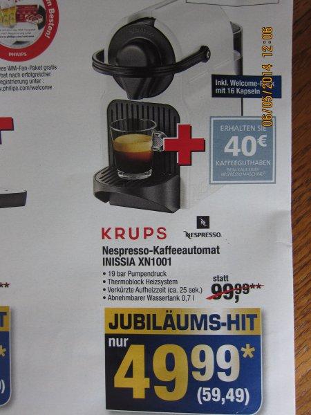 Krups Inissia XN1001    inkl. Welcome Pack mit 16 Kapseln + 40 € Gutschein