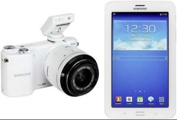 Ebay: SAMSUNG NX2000 KIT WEISS + 20-50 + GALAXY TAB3 7.0 WIFI 8GB WEISS