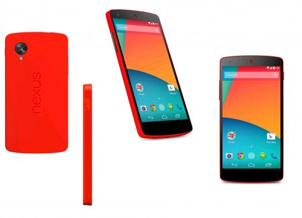 [Orange] LG Google Nexus 5, Rot, 32 GB nur 374,99€ (mit Gutschein)