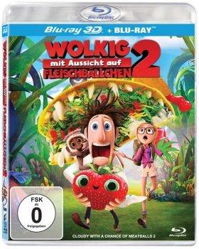 [Blu-ray] 3D Filme (Wolkig mit Aussicht auf Fleischbällchen 2, Schlümpfe 2 u.v.m.) @ Alphamovies.de