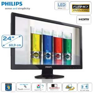 "Philips 60,96cm (24"") Full HD LED Monitor mit Touch-Bedienelementen und HDMI"