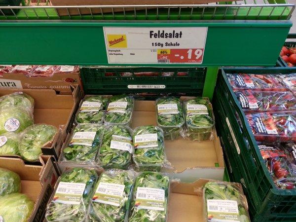 [LOKAL] Packung Feldsalat für 0,19€ bei Kaufland in Berlin