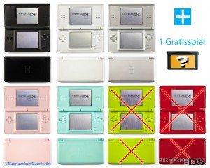 Nintendo DS Lite - Konsole #Farbe nach Wahl + GRATIS SPIEL (inkl. Netzteil) (gebraucht)