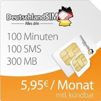 DeutschlandSim Smart 300 für 5,95€ monatlich | Einmalig nur 4,95€ Statt 19,95€