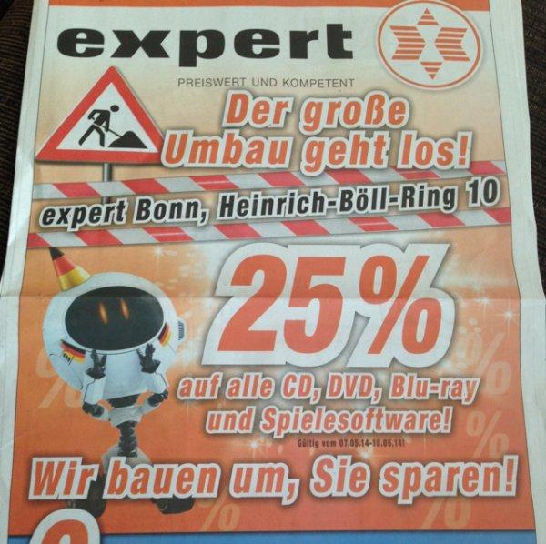 Expert Bonn 25% auf Spiele, CD, DVD und Blu-Ray