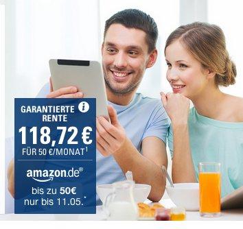 CosmosDirekt bis 12.Juni: RentePlus oder der Flexible VorsorgePlan wieder mit 25€ Amazon-Gutschein nach 6 Monaten. 100%-Beitrag-zurück-Garantie!