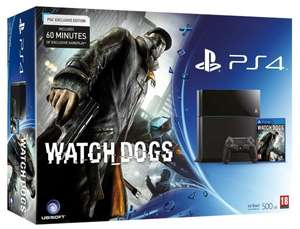 PS4 Konsole PlayStation 4 inkl. Watch Dogs @ Amazo.fr im Bundle