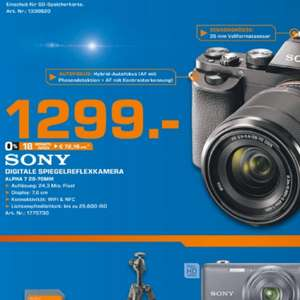 Sony Alpha 7 Kit 28-70mm 1299€
