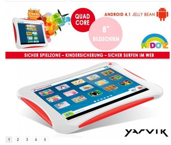 YARVIK KINDER TABLET 8 Zoll 1GB Ram @1dayfly 69,95 € plus 5,95 € VSK