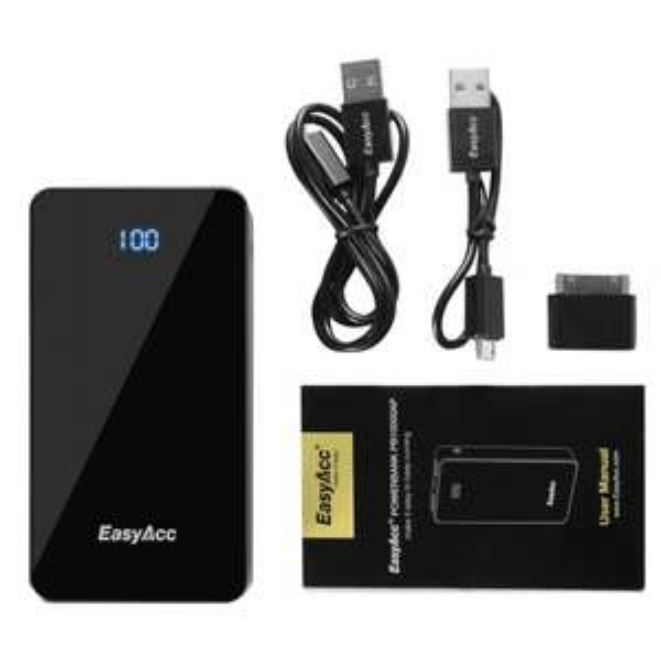 29,99€ für EasyAcc® 15600mAh Portable PowerBank, 21,99€ für 10000mAh Power Bank und  31,89€ für 10000 + 3000mAh