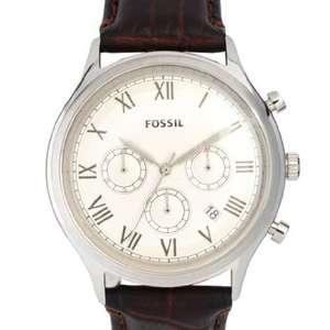 Fossil Herren-Armbanduhr XL Chronograph Leder FS4738 nur 53 EUR