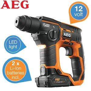 AEG BBH-12 SDS-Plus Akku Bohrhammer inkl. 2 x 12V 3,0 AH Akkus für 159,95€ zzgl. 5,95€ Versand @iBOOD