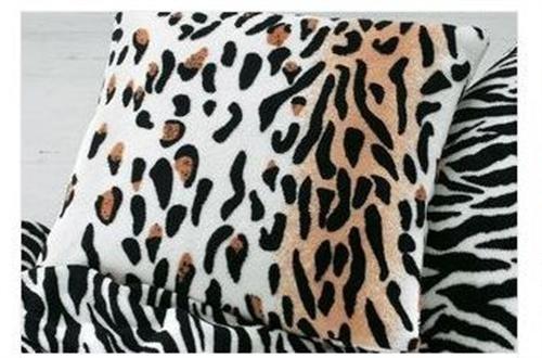"""2x Safari Microfell Polster Kissen Modell """"Leopard"""""""