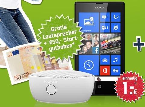 Nokia Lumia 520 + Bluetooth Musikbox im o2 Blue Basic