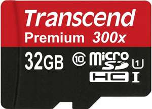 Transcend Premium microSDHC 32GB Class 10 UHS-I Speicherkarte mit SD-Adapter (max. 45MB/s Lesen)