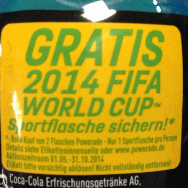 [Offline] 2x Powerade kaufen und eine FIFA World Cup Sportflasche sichern