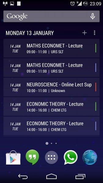 Today Calendar für Android gratis