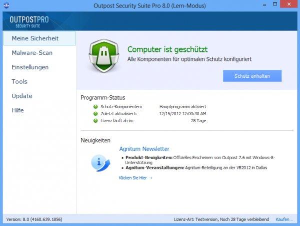 AGNITUM Outpost Security Suite Pro 1 Jahr Vollversion