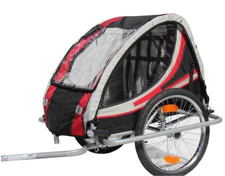 Kinder-Fahrradanhänger Red Loon RB10003 mit Federung für 2 Kinder TÜV/GS