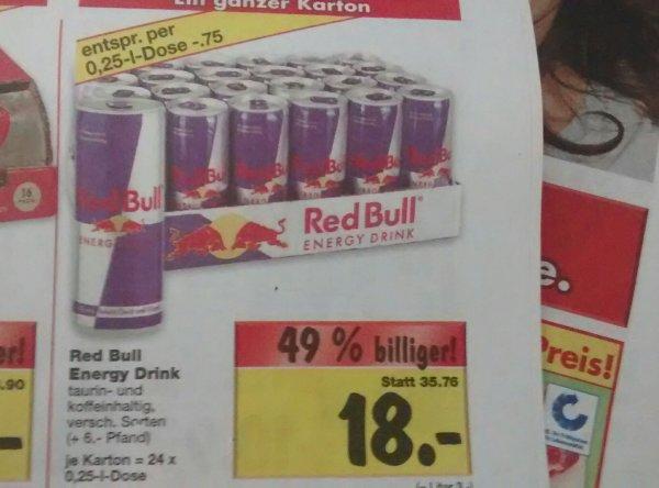 24 Dosen Red Bull bei Kaufland Limburg (Regional?)