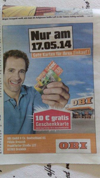 Obi Gutschein Aktion am 17.05.14 Filiale Dreieich (63303)  Effektiv 20% Rabatt