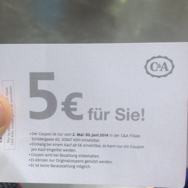 [Köln schildergasse] Kostenlose t-Shirts bei C&A