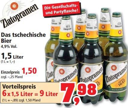 [Thomas Phillipps] 6x Zlatopramen 1,5L für 7,98€ (1L = 89cent)