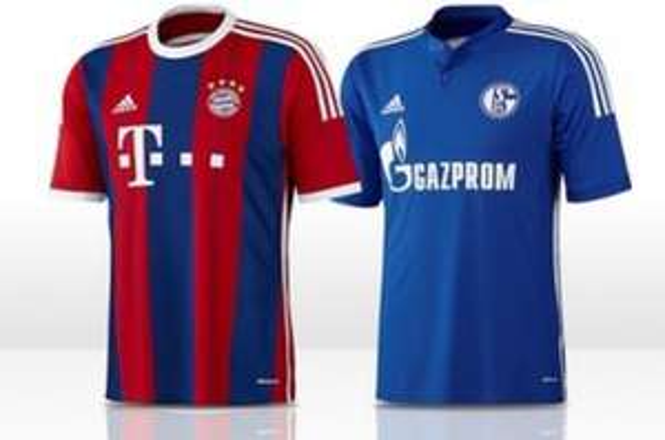 Bayern und Schalke Trikot 14/15
