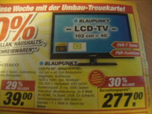 """40"""" Blaupunkt B40A74TFHD Fernseher für nur 277€ bei Toom-Winterhude"""