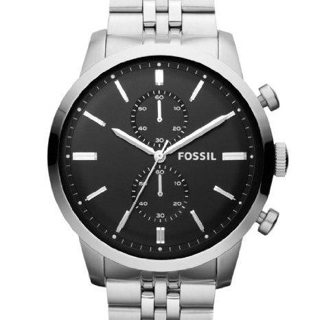 Fossil Herren-Armbanduhr XL Chronograph Quarz Edelstahl FS4784 / amazon