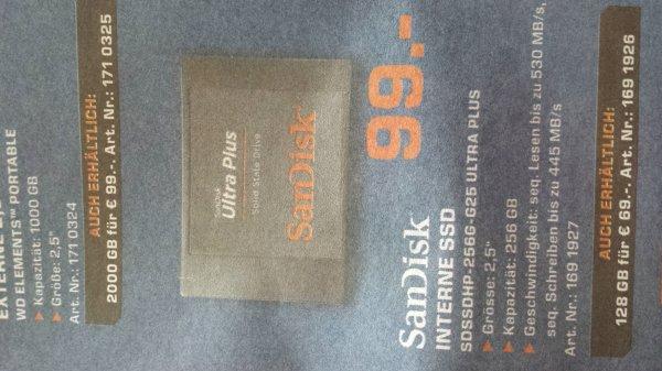 """SanDisk SSD 256gb - 2.5"""" Solange Vorrat reicht"""