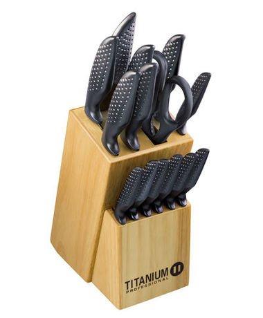 Titanium Messerset - mit Messerblock - 15-tlg. Set 19,99 € bei KIK (online) + 4,95 VSK