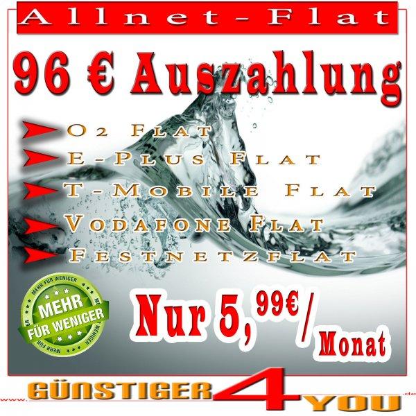 Allnet Flat E+,ohne Datenvolumen.eff..7,24€/Monat