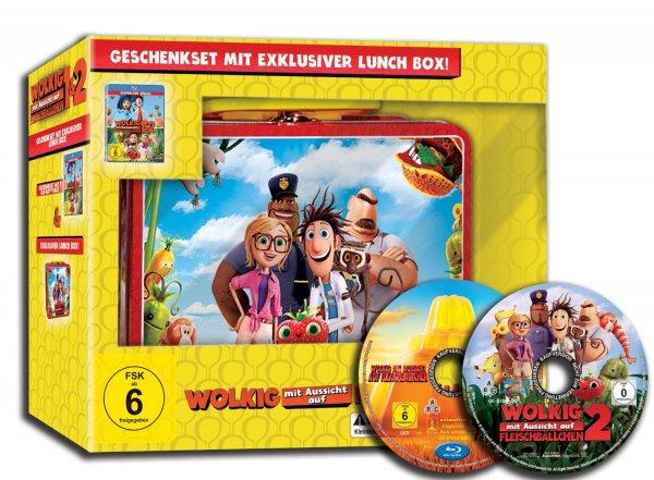 [Amazon] [Blu-Ray] Wolkig mit Aussicht auf Fleischbällchen 1 und 2 Lunch Box Edition