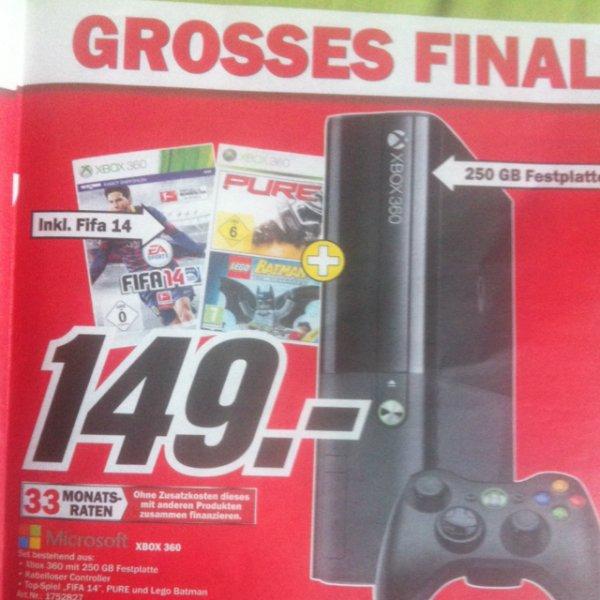 Xbox 360 + FIFA 14 + PURE +Lego Batman